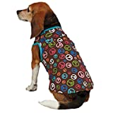 Cheap East Side Collection Polyester/Cotton Peace Out Dog Tank, Large, Blue