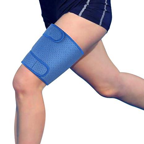 Bandage Cuisse de Compression Maintien de La Cuisse Sport Soutien Cuisse  pour Support et Soulagement de la Douleur, Entorses et Inflammation et ...