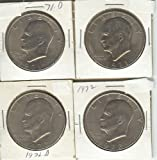 EISENHOWER (IKE) DOLLARS SET OF 4 DIFFERENT DATES BETWEEN 1971-1978