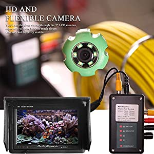 ANYSUN Pipe Pipeline Inspection Camera 30M/98ft Drain Sewer Industrial Endoscope Video Plumbing System with 7 Inch LCD Monitor 1000TVL DVR Recorder Snake Cam (Include 8GB SD Card) (Color: black, Tamaño: 30M)