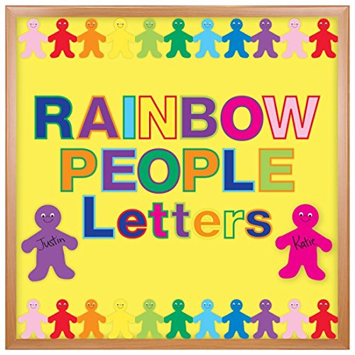 Board Bulletin Punch Outs (Hygloss Products, Inc 10006 Products Bulletin Board Letters and Numbers – Punch Out Rainbow Design Combo – 3 Inch, 350 Pieces)