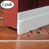 2 Pack Door Draft Stopper,Door Under Seal,Under Door Weather Stripping, Door Noise Stopper & Soundproofing Door Weather Stripping with Strong Adhesive 2'' Width x 39'' Length