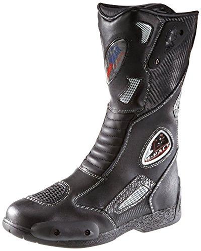 Protectwear SB-03203-45 Motorradstiefel, Allroundstiefel, Sportstiefel aus Leder, Größe 45, Schwarz