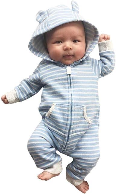 Divertido Pijama con Capucha, K-Youth Pelele Bebe Niño Invierno Ropa Bebe Niña Recien Nacida Ropa de Dormir Unisex Body Bebe Niña Bodies para Niñas Mameluco Infantil Niños Mono: Amazon.es: Ropa y accesorios