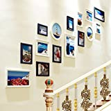 Photo Frame Collage Composite Wood Frame Creative Staircase Wall Decoration Wall Photo Frame