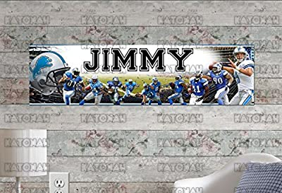 Customized Name Painting Detroit Lions Poster With Your Name On It Personalized Banner