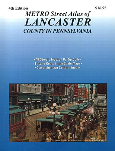 Metro Street Atlas of Lancaster County In Pennsylvania ()