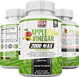 Apple Cider Vinegar Capsules for Weigh Loss | 1,950mg | 100% Pure Raw Organic Veggie Pills | Detox, Healthy Blood Sugar, Digestion, Appetite Suppression & Bloating Relief For Sale