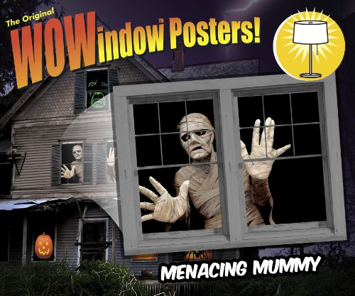 Menacing Mummy Translucent Window Decorations Double Window Design