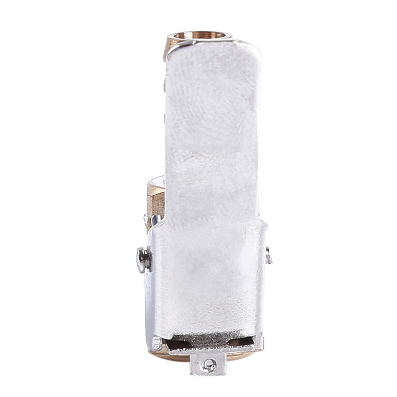 Kupfer geschlossener Durchfluss f/ür Reifen-Luftfutter Siehe Abbildung mit Clip f/ür Inflatormessger/ät Luftfutter 6 mm JOOFFF Reifenf/üller mit Clip Pumpenadapter Kompressor Zubeh/ör