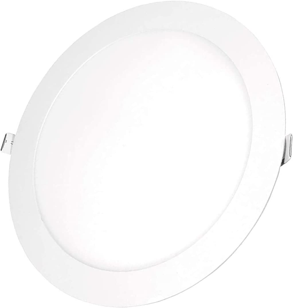 POPP- (Pack x 2 )downlight led Placa LED redondo.12W luz fria .chip OSRAM (6000K, 12W)[Clase de eficiencia energética A+]