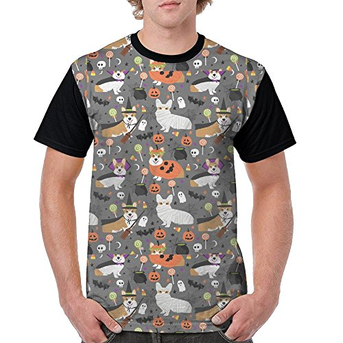Adult Short Sleeve T Shirts Apparel/Halloween Corgi (Dog Lovers Pot Holder)