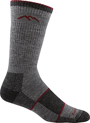 Darn Tough Men's Merino Wool Hiker Boot Sock Full Cushion Socks - Mens Charcoal Large (Merino Wool Fine Gauge)
