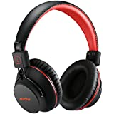 Mpow H1 Bluetooth Headphones Over Ear Lightweight, Comfortable for Prolonged Wearing, Hi-Fi Stereo Wireless Headphones, Foldable Headset w/Built-in Mic and Wired Mode for PC/Cell Phones Black-Red