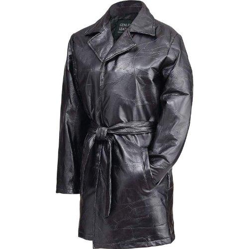 Giovanni Navarre Ladies' Italian Stone Design Genuine Leather Jacket