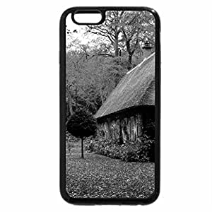 iPhone 6S Case, iPhone 6 Case (Black & White) - House in a forest
