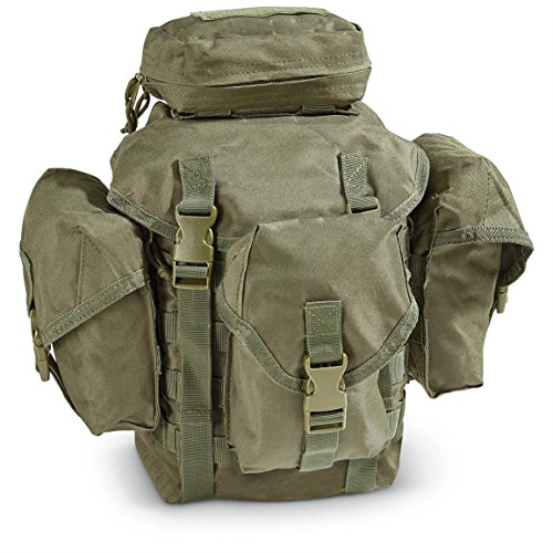 Ultimate Arms Gear Tactical Deluxe OD Olive Drab Green Recon Military Gear MOLLE And ALICE Compatible Butt Pack (Olive Drab Alice Pack)