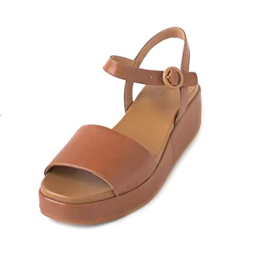 4d5aa5bf7fd Image Unavailable. Camper Womens Misa Servolux Coquer Tan Brown Wedge  Leather Sandals ...