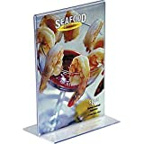 """Staples Vertical Plastic Stand-Up Sign Holder, 5"""" x 7"""" (16657)"""