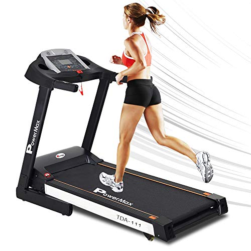 PowerMax Fitness® (2.0HP) Motorized Foldable, Electric Treadmill (Free Installation)【LED Display | BMI | Spring Resistance】 Running Machine for Max Pro-Workout & Home use(TDA/TDM-111) Price & Reviews