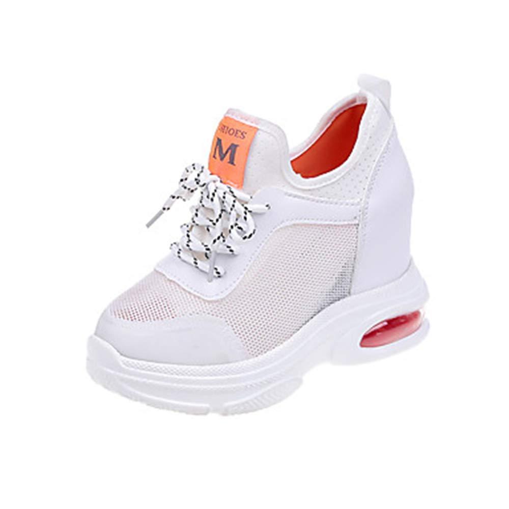 TTSchuhe Damen Schuhe Gitter/PU Frühling Sommer Runde Komfort Sneakers Walking Creepers Runde Sommer Zehe Weiß/Orange / Grün ed53f6