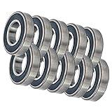 10 Bearing 6000RS 10x26x8 Sealed Ball Bearings