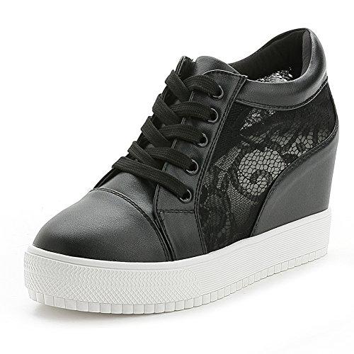 Sneakers casual nere con allacciatura elasticizzata per donna Dek 66cpy