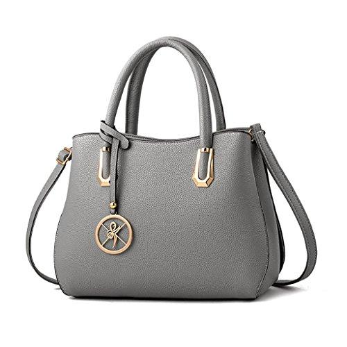 Design spalla Donna Ha Hand Borsa Stylish Top Gray Handlegs 01a1 a Dlmbb H8qtw