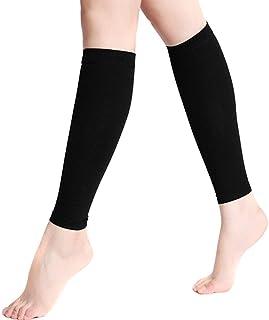 CUSHY 1 Paire Sports de Plein air Chaussettes de Course Hommes Femmes élastiques Solides inférieures Legguard Sock Bas de Compression 55 XR-Hot: Noir, S