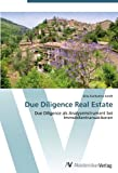 Due Diligence Real Estate: Due Diligence als Analyseinstrument bei Immobilientransaktionen (German Edition) Pdf