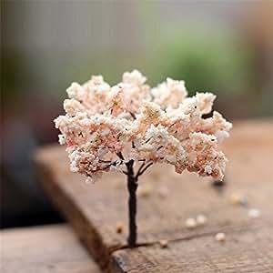 danmu 3pcs árbol de Sakura miniatura Dollhouse macetas decoración Bonsai Micro Paisaje Bricolaje adorno de jardín