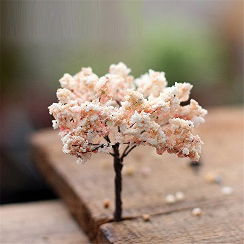Danmu 3pcs Sakura Tree Miniature Dollhouse Pots Decor Bonsai Micro Landscape DIY Craft Garden Ornament