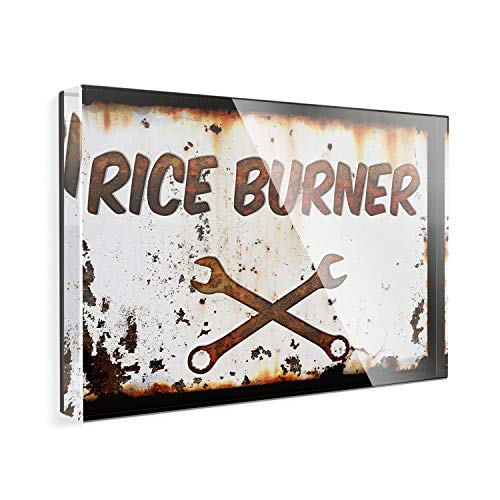 Acrylic Fridge Magnet Rusty old look car Rice burner NEONBLOND