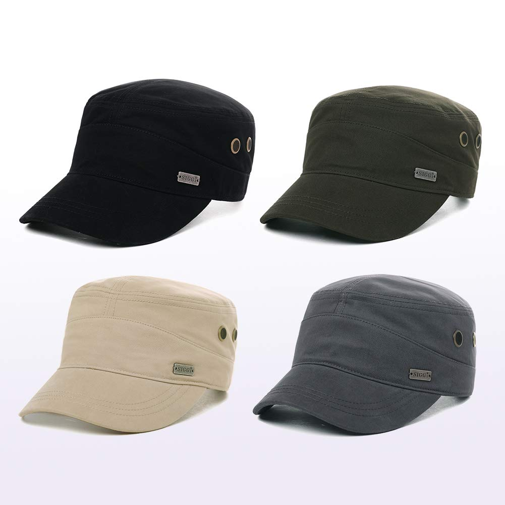 Womens Cotton Army Military Sun Radar Size 8 Combat Hat Men Large Head Baseball Cap XXL Green by Fancet (Image #6)