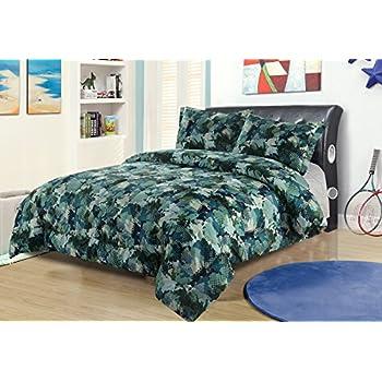 Amazon Com Sky Blue Camouflage Camo Army Boys Twin