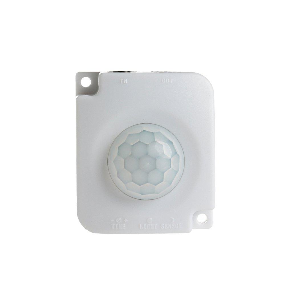 siwetg Interruptor Autom/ático del Sensor del Detector De Movimiento PIR del Cuerpo Infrarrojo DC 12V 24V 10A
