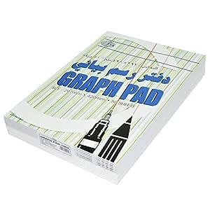 12-Piece FIS Graph Pad, 1 mm Sqaure, 60 gsm, A3 Size (50 Sheets x 12 Pcs) - FSPD1MMA302