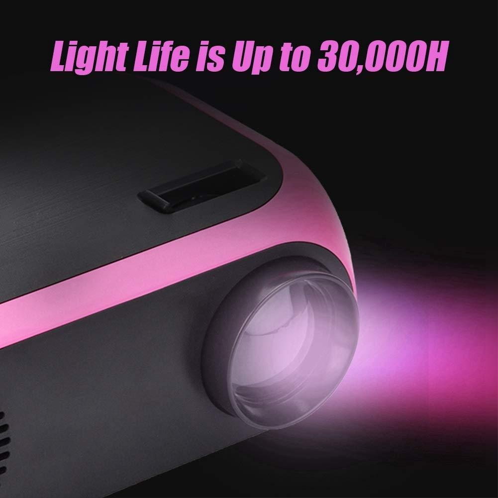 Proyector de Cine En Casa Mini Proyector LED Delaman Proyector de Mano HD 1080P Cine En Casa USB//SD//HDMI//AV