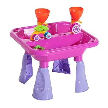 ADATEN Mesa de Arena y Agua para niños Escritorio Creativo en la ...