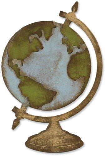 Sizzix 657832 Bigz Die, Vintage Globe by Tim Holtz, Multicolor