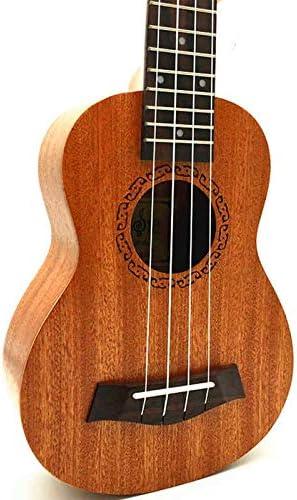 LFDYKLL Ukulele Concert Mini Guitarra acústica de Viaje eléctrica ...