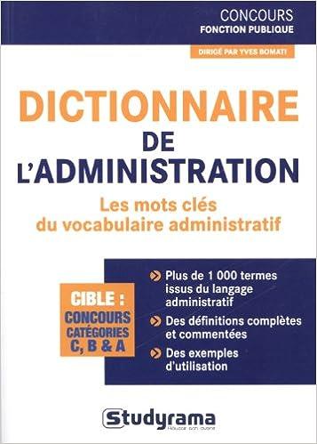 Livre gratuits Dictionnaire de l'administration pdf epub