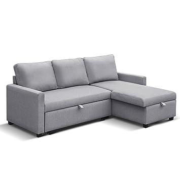 b14f81fe987 Artiss 3 Seater Sofa Bed Sleeper Storage Corner Ottoman Upholstery ...