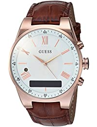 Men's Stainless Steel Connect Smart Watch - Amazon Alexa, iOS and Android Compatible, Color: Brown (Model: C0002MB4)