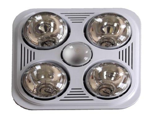 Aero Pure A716R W 4-Bulb Quiet Bathroom Heater Fan With