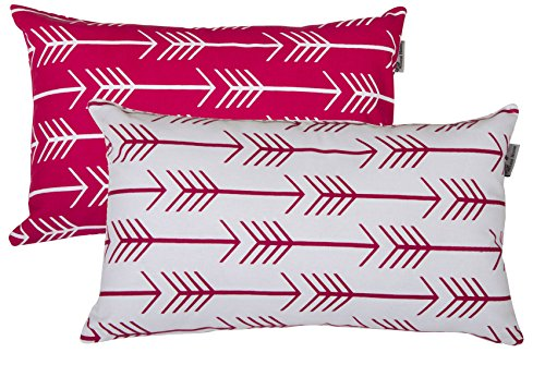 Accent Home Printed Cotton Cushion Cover,Throw Pillow Case, Slipover Pillowslip For Home Sofa Couch Chair Back Seat,2pc pack 12