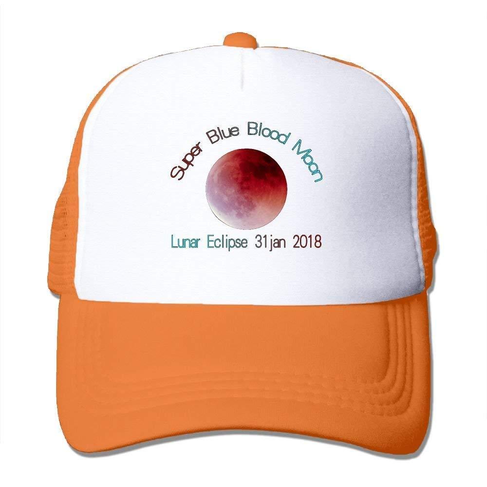 2baa8b5355130 Zhongshanshiyi Adult Super Blue Blood Moon Lunar Eclipse 2018 Mesh Hat  Trucker Cap  Amazon.ca  Clothing   Accessories