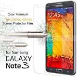 Samsung Galaxy Note 3 - Tempered Glass Screen Protector with [2.5D Round Edge] [9H Hardness] [Crystal Clear] [Scratch-Resistant] [No-Bubble]