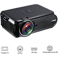 Esoku Portable Full HD Projector 1080P LCD Mini Projector Smartphone Projector Multimedia Home Theater Video Projector for PC Laptop PS4 XBOX Smartphone