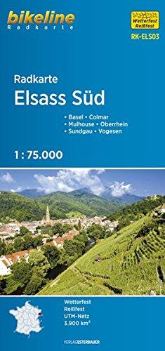 Elsass Süd 1:75.000 (ELS03) (Bikeline Radkarte)